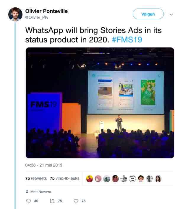 Whatsapp advertenties vanaf 2020 mogelijk